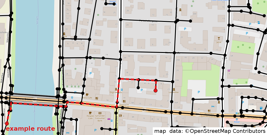 Route Planning with OpenStreetMap - Jakob Miksch